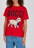 Red printed cotton T-shirt - Gucci