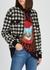 Houndstooth cashmere-blend bomber jacket - Gucci