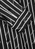 Striped logo-print cotton shirt - Balenciaga