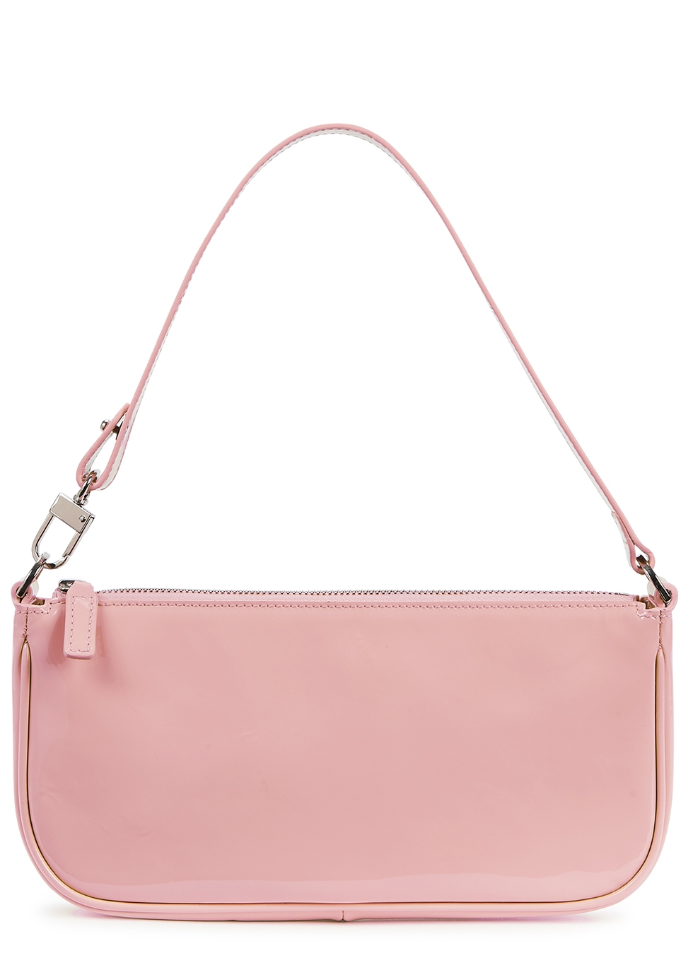 Rachel Pink Patent Leather Shoulder Bag by By Far