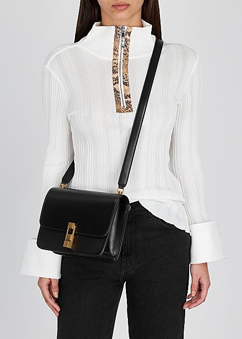 Carre black leather shoulder bag - Saint Laurent