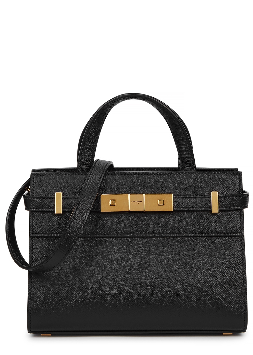 Manhattan Nano Leather Top Handle Bag by Saint Laurent