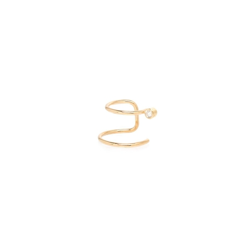 ZoË Chicco 14Ct Yellow Gold And Diamond Double Band Ear Cuff (Single)
