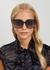 F Is Fendi black oversized sunglasses - Fendi