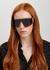 Dark grey wrap-around sunglasses - Fendi
