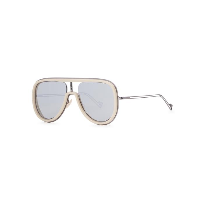 Fendi Mirrored Aviator-style Sunglasses