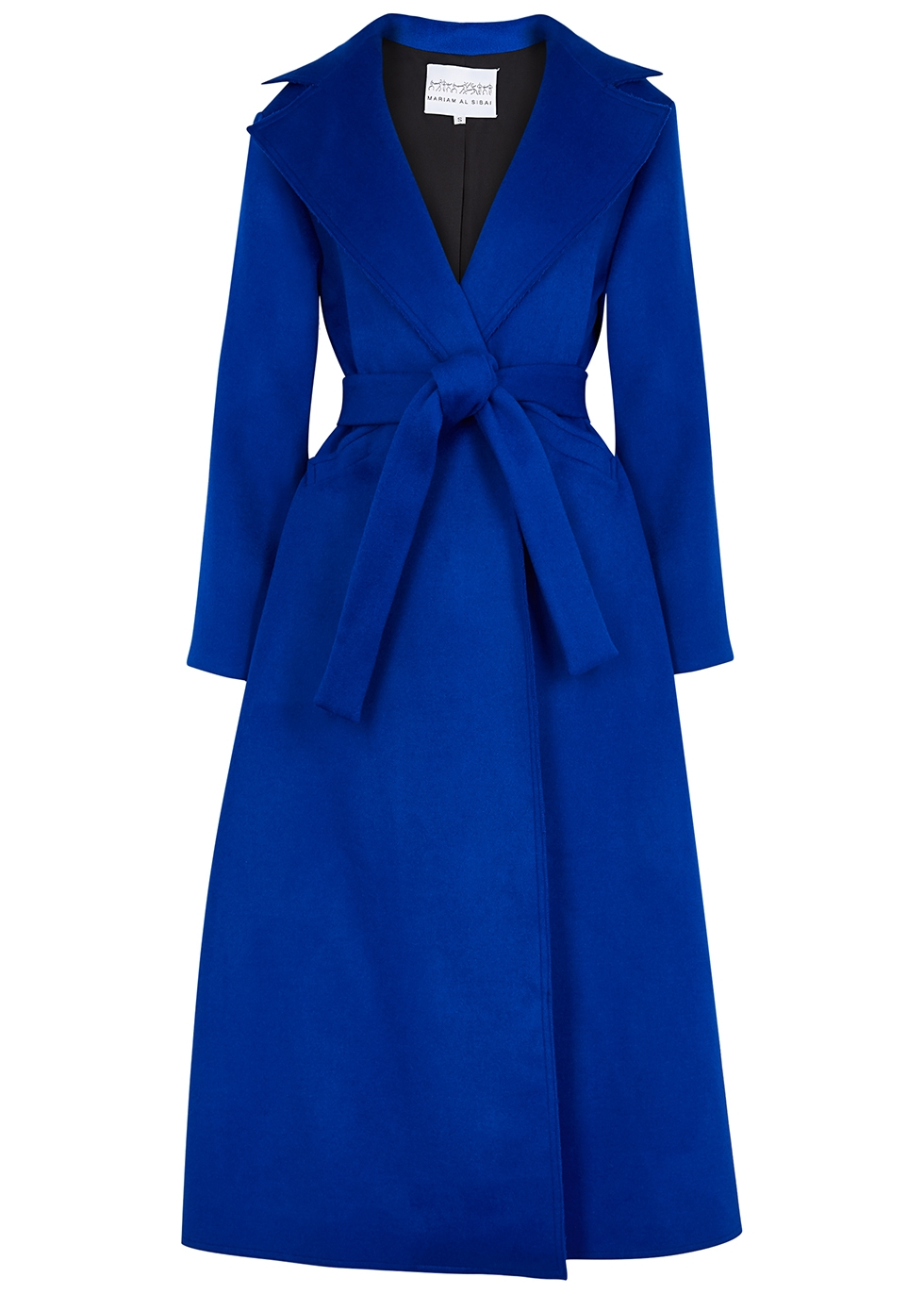 Electric Blue Wool Felt Coat by Mariam Al Sibai
