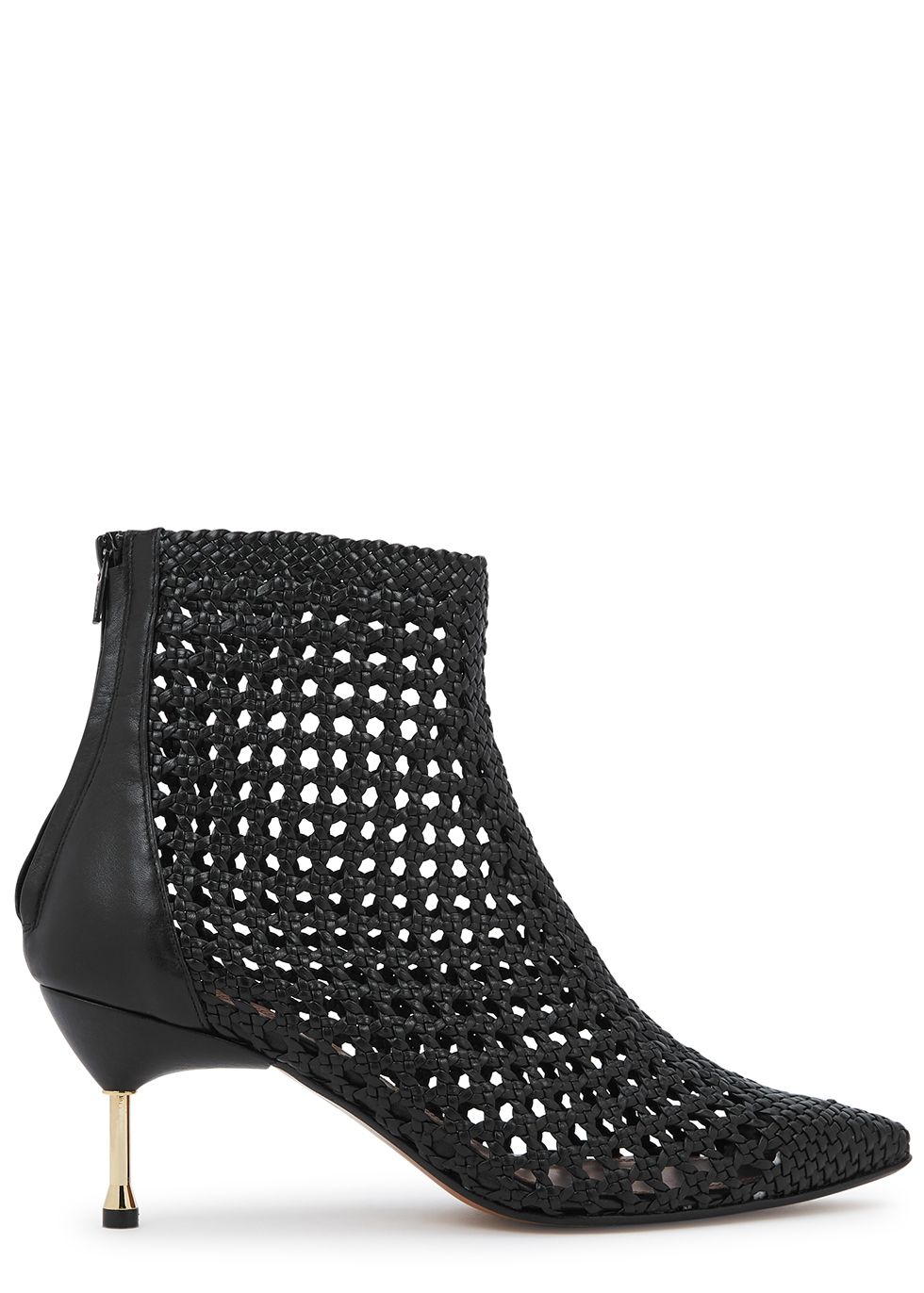 Mahon 65 black leather ankle boots