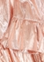 Rose gold ruffle-trimmed lamé dress - BATSHEVA
