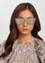 Transparent oversized sunglasses - CELINE Eyewear