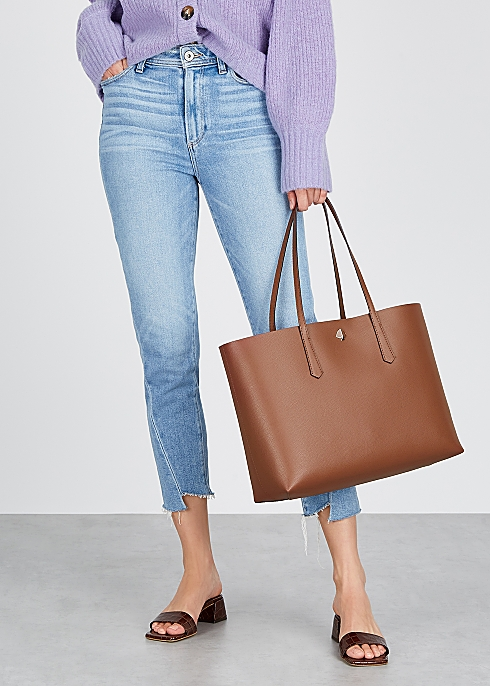 online sale reasonable price attractive style Kate Spade New York Molly large brown leather tote - Harvey ...