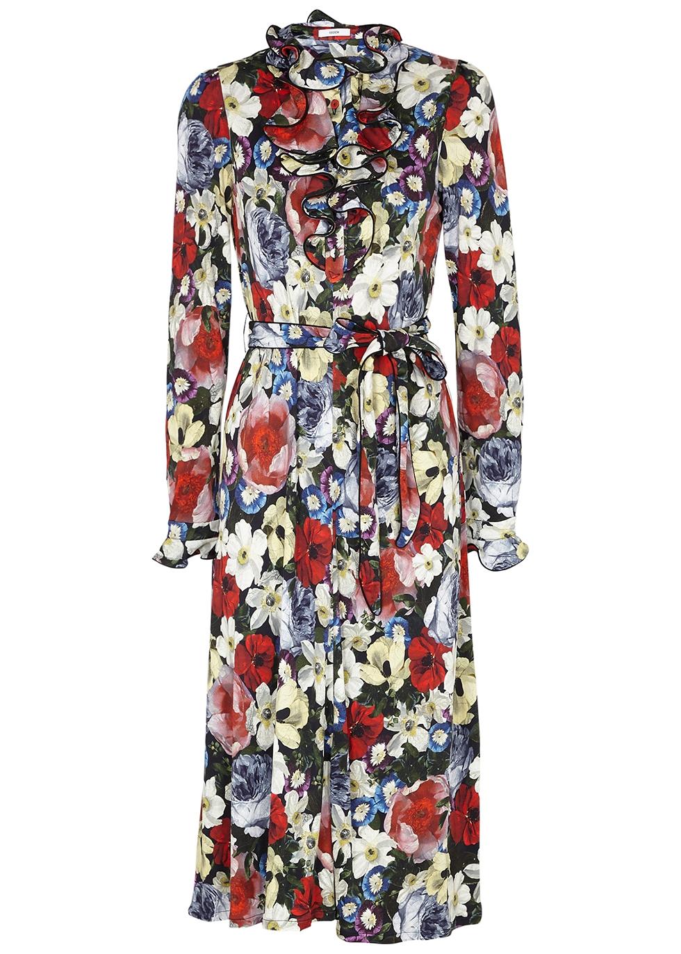Foirella floral-print jersey midi dress