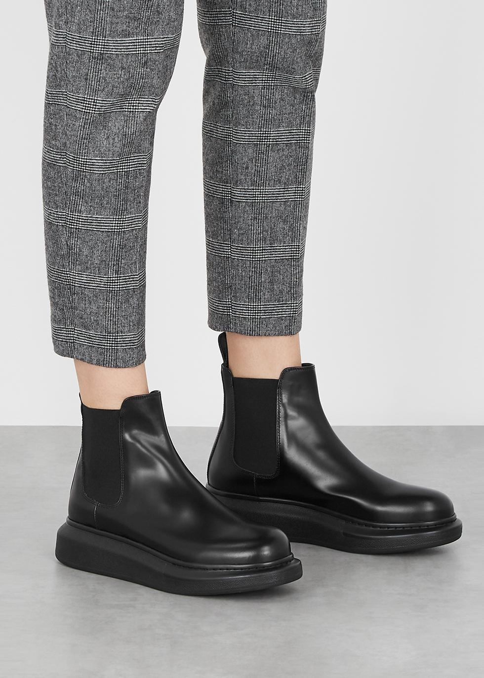 Alexander McQueen Hybrid black leather