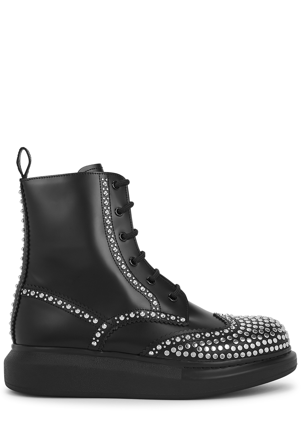 Hybrid 50 black leather ankle boots