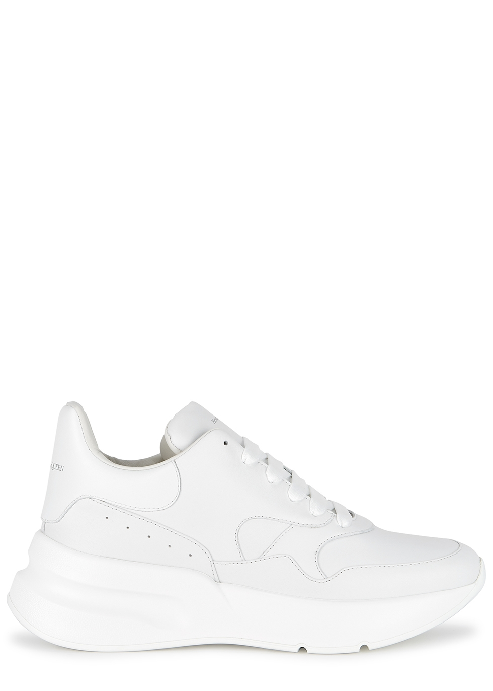 Oversized Runner white leather sneakers