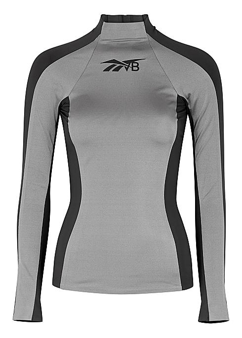 halpa laaja valikoima julkaisutiedot Reebok X Victoria Beckham Panelled stretch-jersey top ...