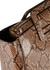 Shirley snake-effect leather top handle bag - STAUD