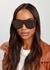 Tortoiseshell D-frame sunglasses - CELINE Eyewear