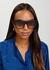 Black wayfarer-style sunglasses - CELINE Eyewear