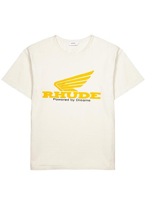 RHUDE Rhonda printed white cotton T-shirt