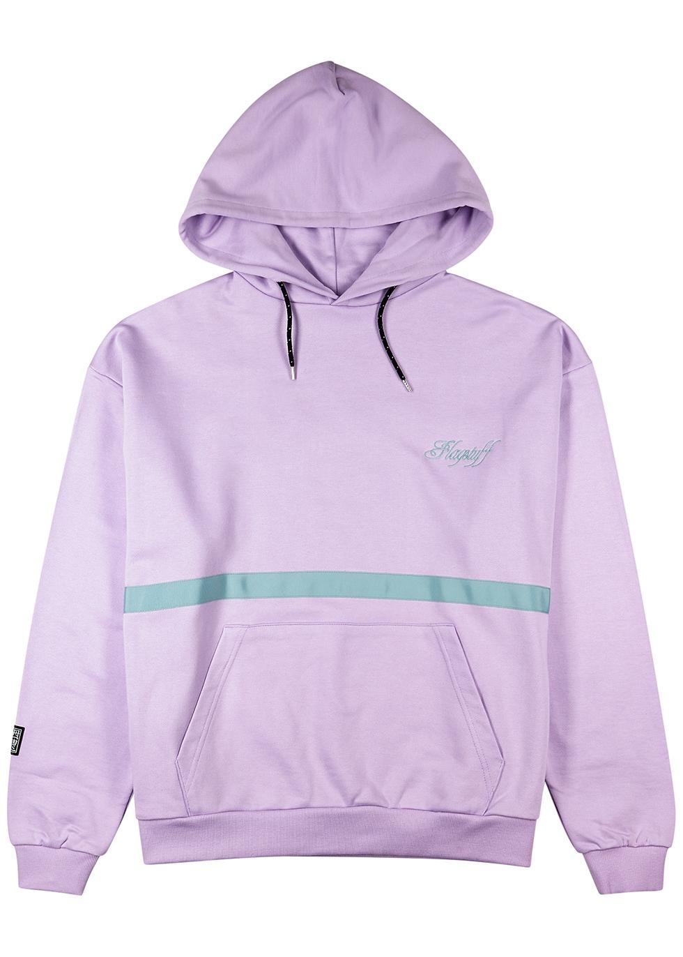 Lilac printed hooded cotton sweatshirt