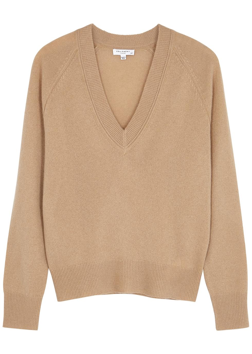 Camel cashmere jumper