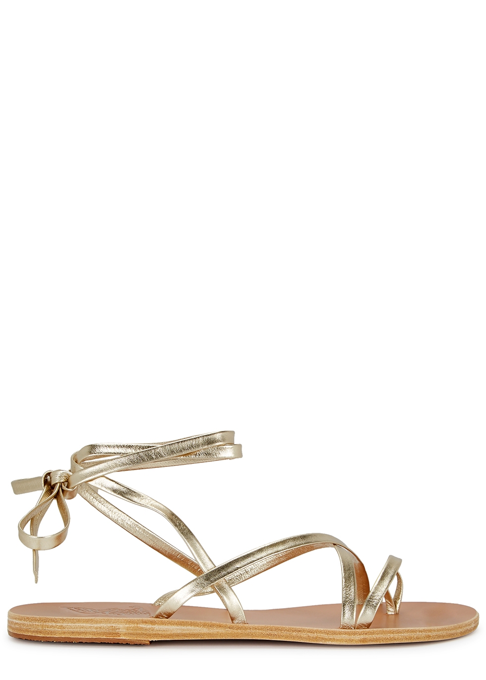 Morfi gold leather sandals
