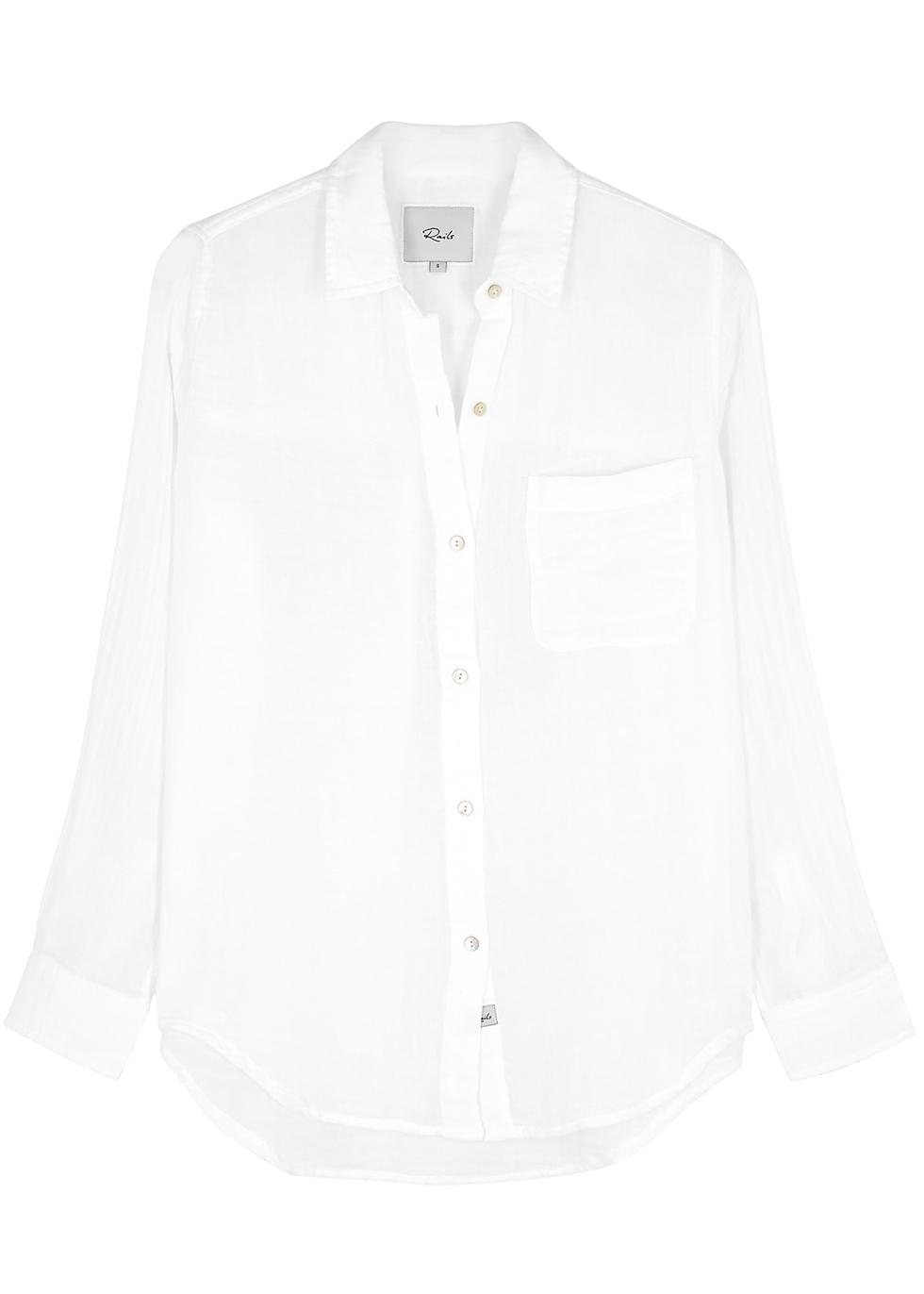 Ellis white cotton shirt