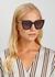 Ciara tortoiseshell oversized sunglasses - Jimmy Choo