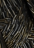 Black lamé-weave cape-effect gown - Peter Pilotto