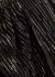 Black lamé-weave chiffon mini dress - Peter Pilotto