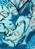 Blue floral-print satin-twill shirt - Peter Pilotto