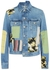 Blue patchwork denim jacket - Loewe