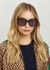 Tortoiseshell square-frame sunglasses - Gucci