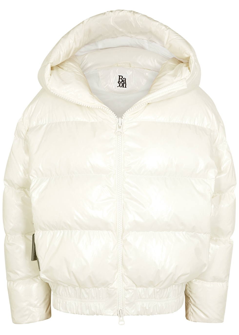 Cloud white quilted shell jacket