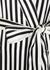 Capability Nika striped silk robe - Olivia von Halle