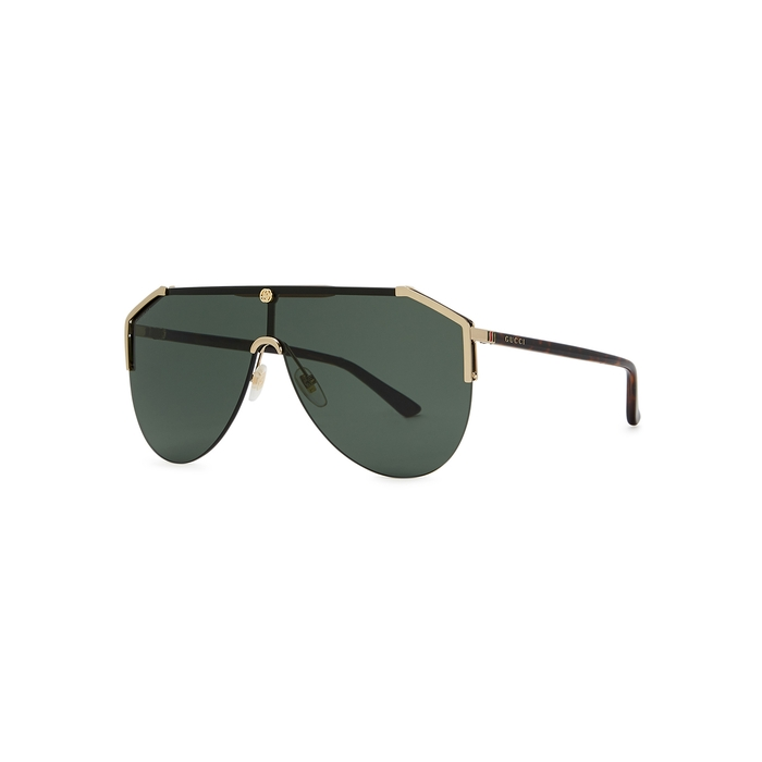 Gucci Gold-tone D-frame Sunglasses