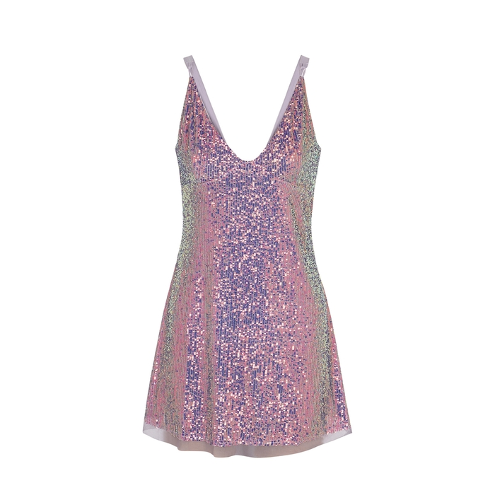 Free People Gold Rush Lilac Sequin Mini Dress Modesens