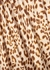 Normani leopard-print satin midi skirt - Free People