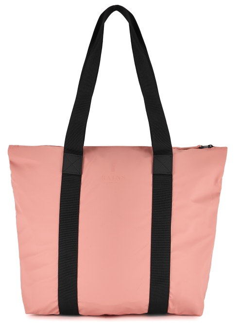 Rains Coral rubberised tote