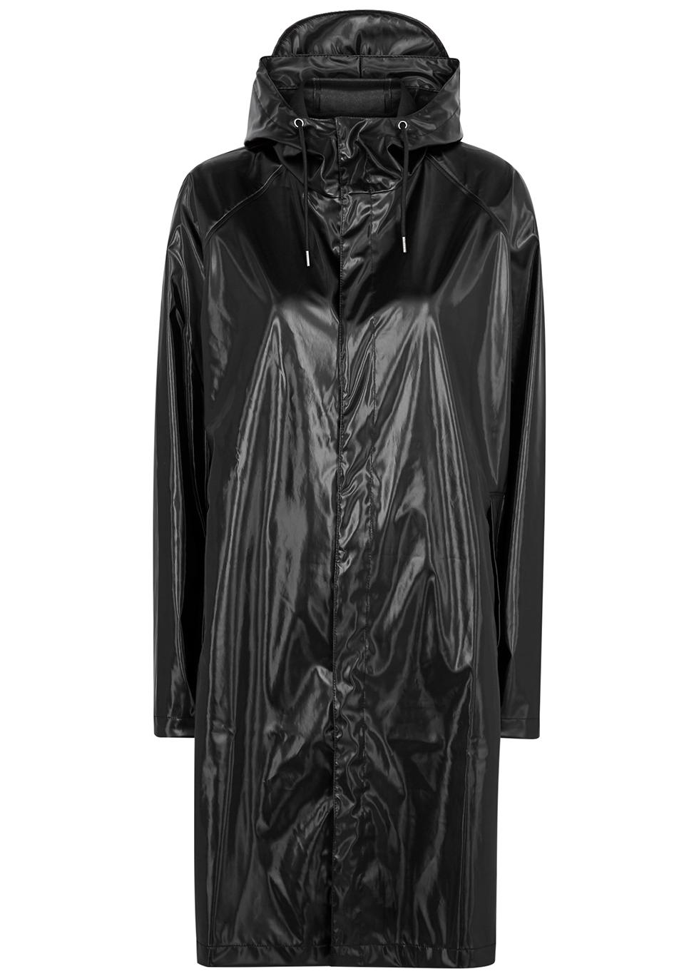 Sand rubberised raincoat