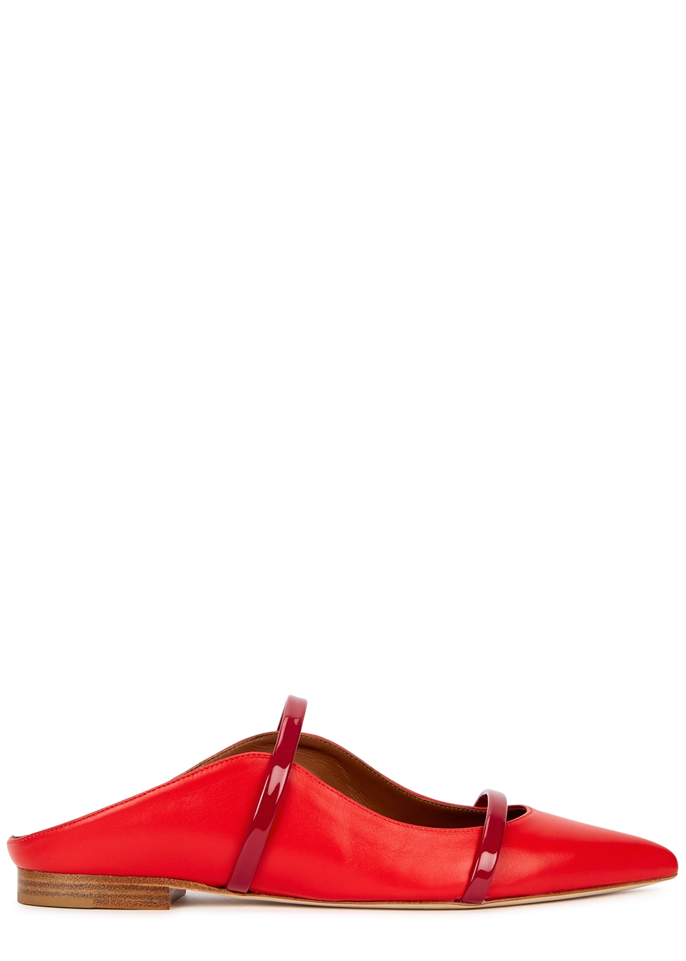 Maureen 10 red leather mules