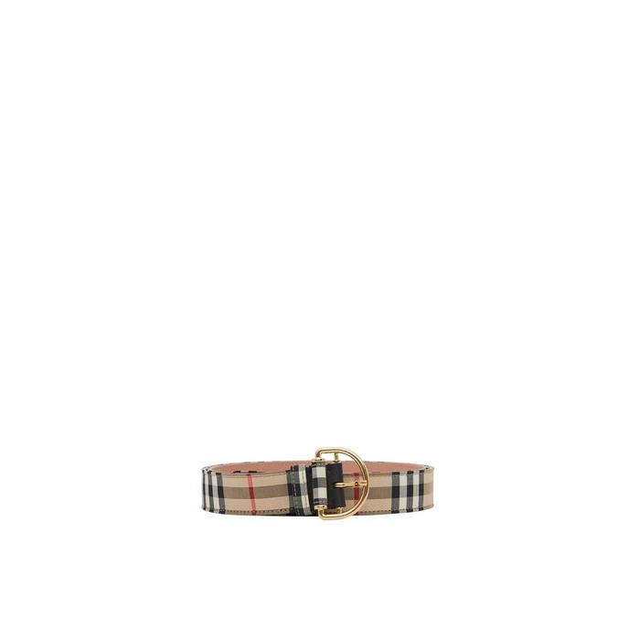 Burberry Vintage Check Cotton Blend D-ring Belt