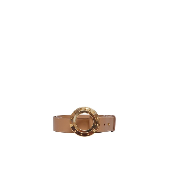 Burberry Porthole Buckle Leather Belt