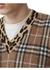 Leopard detail vintage check cashmere blend sweater - Burberry