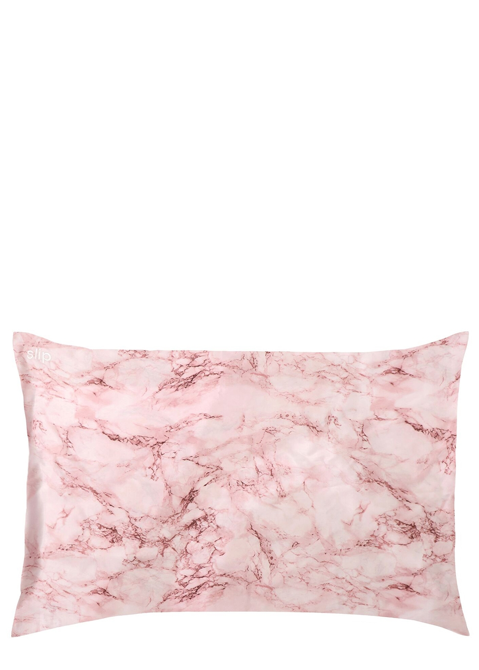SLIP Pink Marble Silk Pillowcase