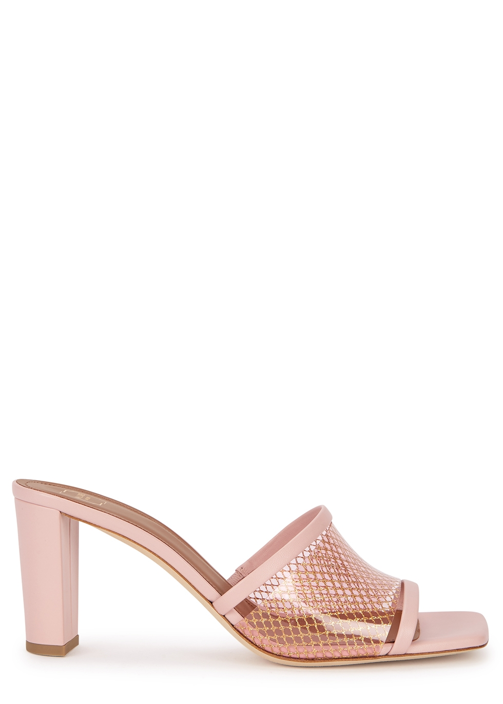 Demi 70 pink leather mules