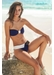 Capri bandeau bikini with flap bottom bottom indigo - Valimare