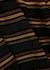 Striped metallic-knit mini dress - Balmain