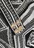 Black geometric-intarsia midi dress - Balmain